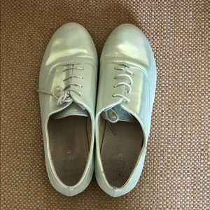 Topshop Mint metallic oxfords 👞